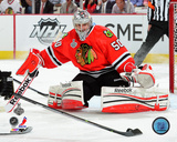 Corey Crawford Game 1 of the 2013 Stanley Cup Finals Action Photo