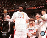 LeBron James with the MVP Trophy Game 7 of the 2013 NBA Finals Photo