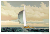 Sailboat Collectable Print by David Lockhart