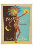 Brazil Carnaval Night And Day! Posters by  Anderson Design Group
