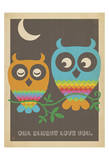 Rainbow Owls Affiches par  Anderson Design Group