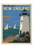Visit Beautiful New England Posters by  Anderson Design Group