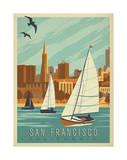 San Francisco, California (Sailboats) Prints by  Anderson Design Group