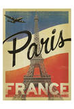 Paris, France (Flag) Posters by  Anderson Design Group
