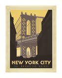 New York City: The Manhattan Bridge Poster di  Anderson Design Group