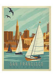 San Francisco, California (Sailboats) Posters by  Anderson Design Group