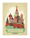 Moscou, Russie Affiches par  Anderson Design Group