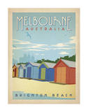 Melbourne, Australia: Brighton Beach Prints by  Anderson Design Group