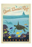 Great Barrier Reef, Australia Póster por  Anderson Design Group