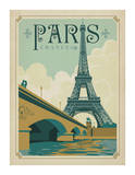 Paris, France (Eiffel Tower Blue Sky) Poster por Anderson Design Group