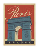 Paris, France (Arc) Posters by  Anderson Design Group