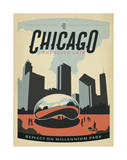 Chicago: The Cloud Gate Prints by  Anderson Design Group