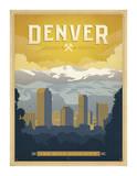 Denver: The Mile High City Giclée-tryk af Anderson Design Group