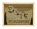 Mt. Rushmore: Monument To Democracy Art by  Anderson Design Group
