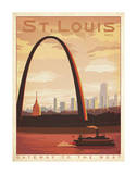 St. Louis, Missouri: Gateway To The West Prints by  Anderson Design Group