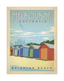 Melbourne, Australia: Brighton Beach Print by  Anderson Design Group