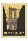 New York City: The Manhattan Bridge Affiches par  Anderson Design Group