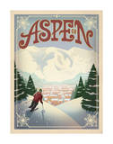 Skiing, Aspen, Colorado Láminas por  Anderson Design Group