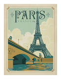Paris, France (Eiffel Tower Blue Sky) Prints by  Anderson Design Group