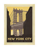 New York City: The Manhattan Bridge Posters by  Anderson Design Group
