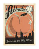 Atlanta: Georgia's On My Mind Prints by  Anderson Design Group