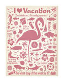 I Love Vacation (Flamingo) Prints by  Anderson Design Group