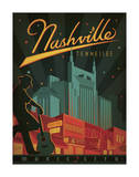 Nashville, Tennessee Poster by  Anderson Design Group