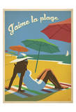 J'aime la plage Posters by  Anderson Design Group