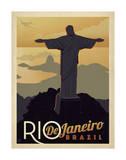 Rio de Janeiro, Brésil Poster par  Anderson Design Group