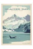 Parque nacional de la bahía del glaciar (Alaska) Lámina por Anderson Design Group