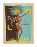 Brazil Carnaval Night And Day! Prints by  Anderson Design Group