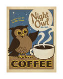 Night Owl Blend Coffee Poster by  Anderson Design Group