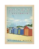 Melbourne, Australia: Brighton Beach Lámina giclée por Anderson Design Group