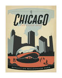 Chicago: The Cloud Gate Plakater af Anderson Design Group