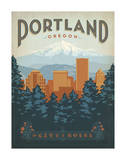 Portland, Oregon Poster by  Anderson Design Group