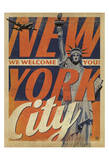 New York City: We Welcome You! Prints by  Anderson Design Group