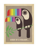 Rainbow Toucans Art by  Anderson Design Group