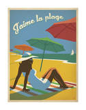 J'aime la plage Prints by  Anderson Design Group
