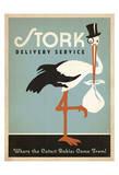 Anderson Design Group - Stork Delivery Service (Blue) Obrazy