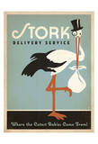 Stork Delivery Service (Blue) Reprodukcje autor Anderson Design Group