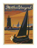 Martha's Vineyard, Massachusetts (Sailboat) Posters by  Anderson Design Group