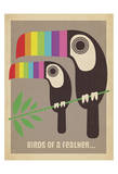 Rainbow Toucans Posters af Anderson Design Group