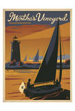 Martha's Vineyard, Massachusetts (Sailboat) Prints by  Anderson Design Group