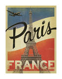 Paris, France (Flag) Affiches par  Anderson Design Group