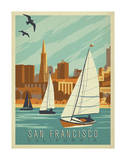 San Francisco, California (Sailboats) Prints by  Anderson Design Group