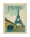 Paris, France (Eiffel Tower Blue Sky) Poster by  Anderson Design Group