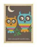 Rainbow Owls Poster by  Anderson Design Group
