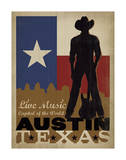 Austin, Texas: Live Music Capital Of The World Prints by  Anderson Design Group