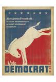 Anderson Design Group - Vote Democrat (Donkey) - Art Print
