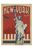 New York, NY (Statue of Liberty) Posters by  Anderson Design Group